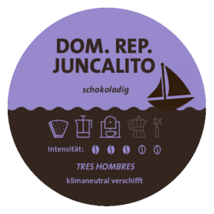 Dominikanische Republik Juncalito Tres Hombres Label