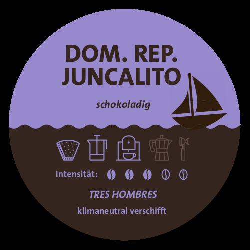 Dominikanische Republik Juncalito Tres Hombres Label