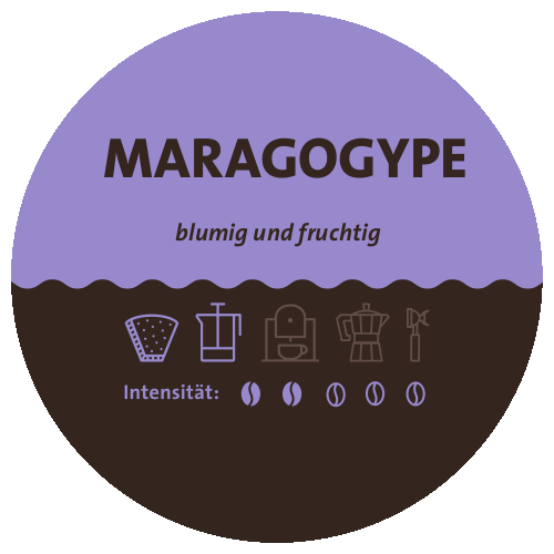 Nicaragua Maragogype Kaffee Label