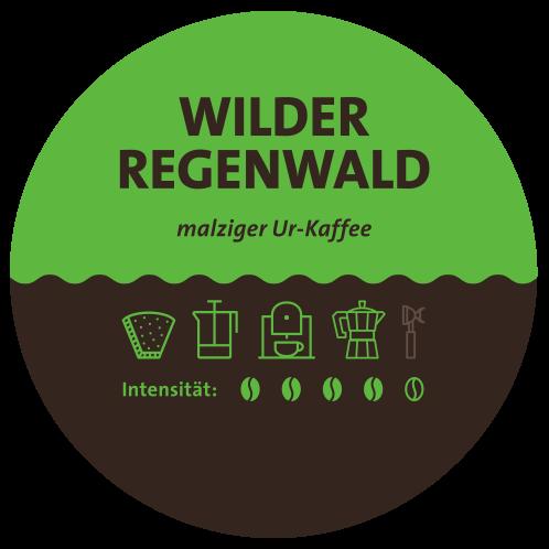 Äthiopien Regenwald Kaffee_label