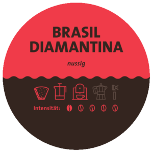 Brasilien Diamantina Kaffee Label