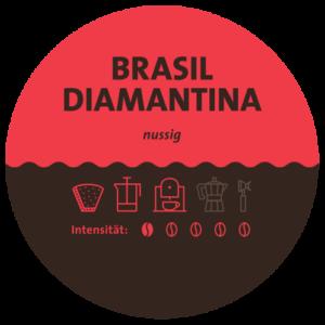 Brasilien Diamantina Kaffee Label