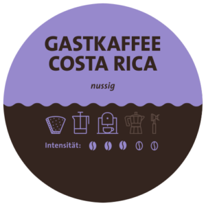 Costa Rica Tarrazu Kaffee Label
