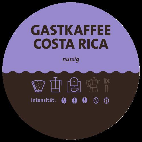 Costa Rica Tarrazu Kaffee Label