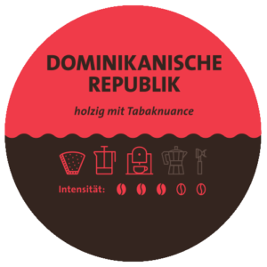 Dominikanische Republik Kaffee Label