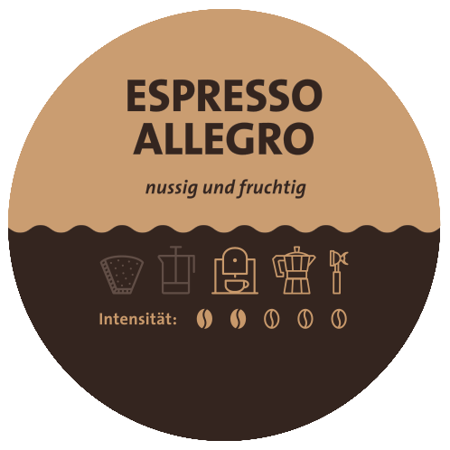 Espresso Allegro Label