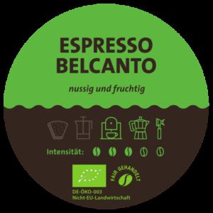 Espresso Belcanto Bio Label