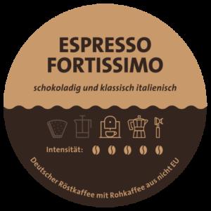 Espresso Fortissimo Label