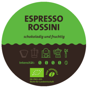 Espresso Rossini Label
