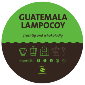Guatemala Lampocoy Kaffee Label