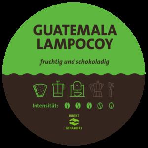 Guatemala Lampocoy Kaffee Label