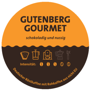 Gutenber Gourmet Kaffee Label
