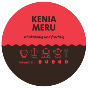 Kenia Meru Kaffee Label