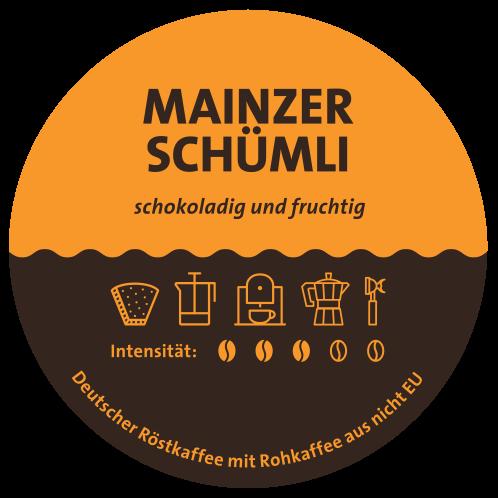 Mainzer Schümli Kaffee Label