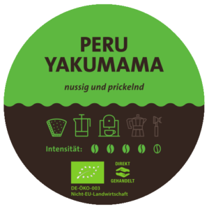Peru Yakumama Bio Kaffee Label