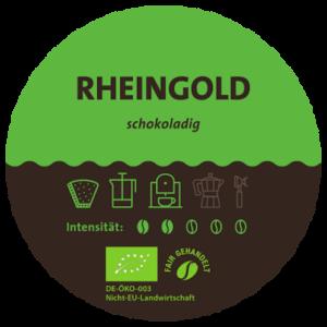 Rheingold Bio Kaffeemischung Label