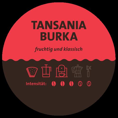 Tansania Burka Kaffee Label